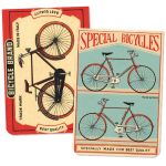 "Mini-Notizblock ""Vintage Bicycles"" 2er-Set"